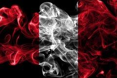 Peru smoke flag on a black background.  stock images