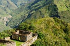Peru, spectacular the Inca ruins of Choquequirau Stock Photography