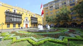 Peru square fountain Lima