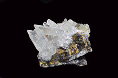 Peru sulfides. Peru sulphides in black background Stock Photography