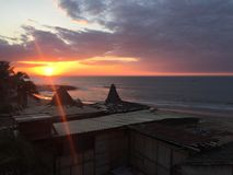 Peru Sunset stock afbeeldingen