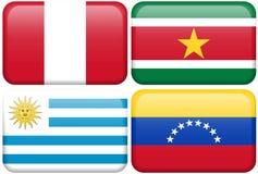 Peru, Suriname, Uruguay, Venezuela Royalty Free Stock Images