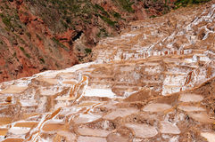 Peru,  Traditional salt mine in Maras Royalty Free Stock Photos