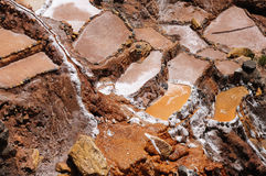 Peru, Traditional salt mine in Maras Stock Photo