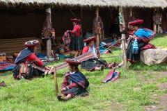 Peru, Traditionl Peruvian People, Travel Stock Image
