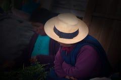 Peru Travel, Peruvian Women, Hat Royalty Free Stock Image