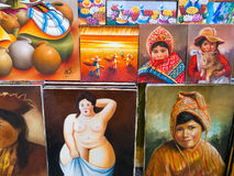 Peru Travel, Souvenir Peruvian Art Royalty Free Stock Photos