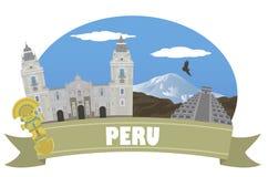 peru Turism och lopp royaltyfri illustrationer