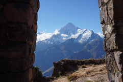 Peru - Veronica mountain through the Gate of the Wind Royalty Free Stock Photo