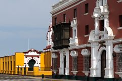 Peru, View on the Trujillo city. Trujillo city about the beautifllly colonial building on the Peruvian coasts. Cityscape - old town - colonial architecture Stock Image