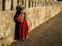 Peruan woman. In Cabanaconde (Peru Stock Images
