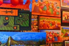 Peruanen målar till salu Royaltyfria Foton