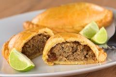 Peruanische Empanada-Fleisch-Torte Stockfotografie