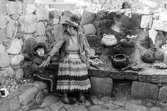 Peruanische Gesichter, Leute, Folklore, Peru stockbild
