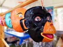 Peruanische handgefertigte Masken Lizenzfreie Stockfotos