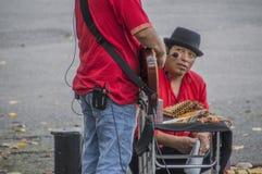 Peruanische Künstler bei Ueno parken Japan 2016 lizenzfreies stockfoto