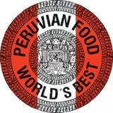 Peruanische Lebensmittelillustration Stockbild