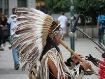 Peruanischer Musiker Stockbild