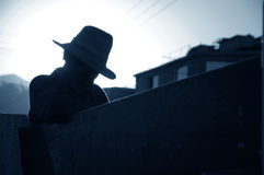 Peruanischer Nickerchen machender Mann Lizenzfreie Stockfotografie