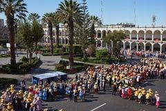 Peruanischer Volkstanz Stockfoto