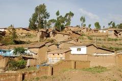 Peruanisches Dorf Stockfotos