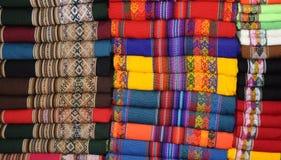 Peruanisches Gewebe Stockfotos