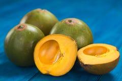 PeruanLucuma frukt royaltyfri fotografi