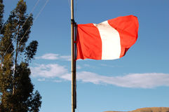 Peruansk flagga arkivfoto