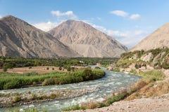 peruansk flod Arkivfoton