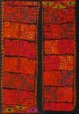 Peruansk hand - gjort Woolen tyg royaltyfri fotografi