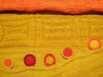 Peruansk hand - gjort Woolen tyg royaltyfri foto