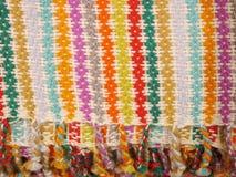 Peruansk hand - gjort Woolen tyg royaltyfri bild