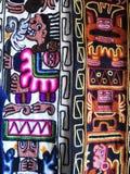 Peruansk hand - gjort Woolen tyg arkivfoton
