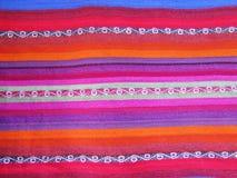 Peruansk hand - gjort Woolen tyg arkivbild