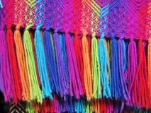 Peruansk hand - gjort Woolen tyg fotografering för bildbyråer