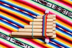 Peruansk pannaflöjt Royaltyfri Bild
