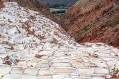Peruansk salt produktion Arkivbild