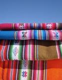 peruansk textil Arkivbilder