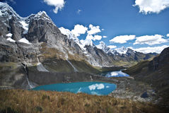 Peruanska Andes landskap Arkivbild