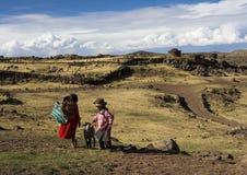 Peruanska barn Arkivfoto