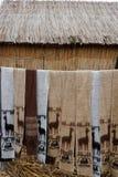 Peruanska halsdukar Arkivfoton