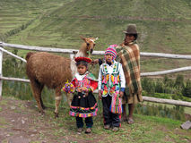 peruanska lokaler Arkivbild