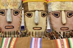 Peruanska torkdukemaskeringar Arkivbilder