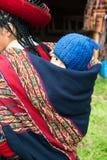 Peruanskt folk, Peru Baby, lopp Arkivbild