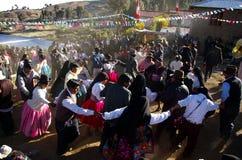 peruanskt mottagandebröllop Arkivbilder