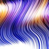 Peruca colorida azul ilustração stock