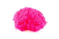 Peruca cor-de-rosa no branco Foto de Stock Royalty Free