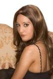Peruca desgastando da mulher árabe egípcia atrativa Imagens de Stock Royalty Free