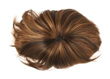 Peruca do cabelo isolada Imagens de Stock