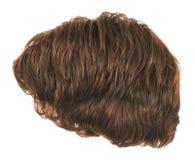 Peruca do cabelo isolada Imagens de Stock Royalty Free